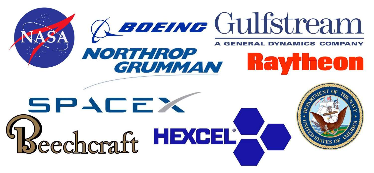 Our customers include international aerospace and US armed service branches.